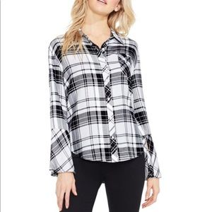 Vince Camuto Plaid Flannel Button-Down Shirt Bell